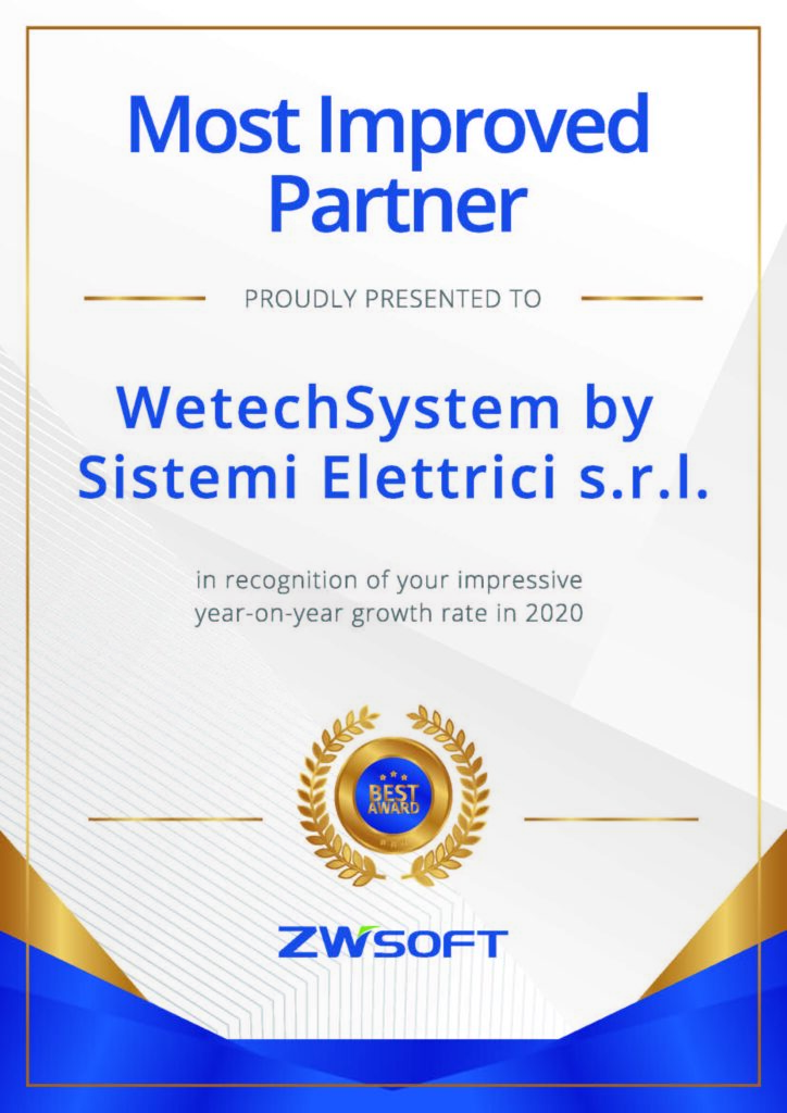 ZWCad Most Improved Partner 2020